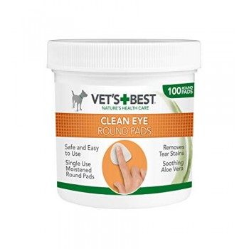 Vet's Best Clean Eye Round Pads