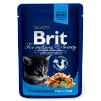 BRIT PREMIUM CHICKEN CHUNKS KITTEN 100gr