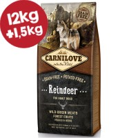CARNILOVE ΤΑΡΑΝΔΟΣ (Ενήλικες σκύλοι) 12kg+1,5kg ΔΩΡΟ