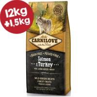 CARNILOVE ΣΟΛΩΜΟΣ & ΓΑΛΟΠΟΥΛΑ (Ενήλικες, μεγαλόσωμοι σκύλοι) 12kg+1,5kg ΔΩΡΟ