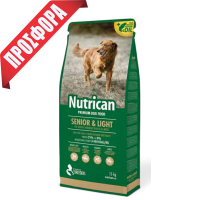 NUTRICAN ΣΚΥΛΟΥ SENIOR LIGHT 15kg+2kg ΔΩΡΟ