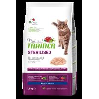 NATURAL TRAINER ΓΑΤΑΣ ΛΕΥΚΑ ΚΡΕΑΤΑ (Στειρωμένες γάτες) 1,5kg