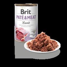BRIT DOG CANS PATE & MEAT LAMB 400gr