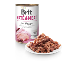 BRIT DOG CANS PATE & MEAT PUPPY 400gr