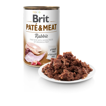BRIT DOG CANS PATE & MEAT RABBIT 400gr