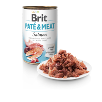 BRIT DOG CANS PATE & MEAT SALMON 400gr