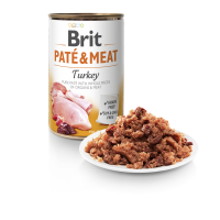 BRIT DOG CANS PATE & MEAT TURKEY 400gr