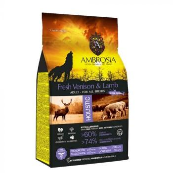 AMBROSIA DOG ΕΛΑΦΙ & ΑΡΝΙ (όλες οι φυλές) 12kg