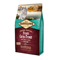 CARNILOVE FRESH ΚΥΠΡΙΝΟΣ & ΠΕΣΤΡΟΦΑ (Στειρωμένες γάτες) 2kg