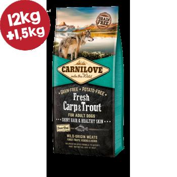 CARNILOVE FRESH ΚΥΠΡΙΝΟΣ & ΠΕΣΤΡΟΦΑ (Ενήλικες σκύλοι) 12kg+1,5kg ΔΩΡΟ