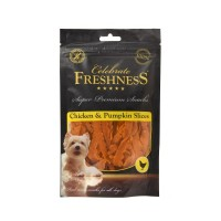 CELEBRATE FRESHNESS CHICKEN & PUMPKIN SLICES 100gr