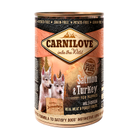 CARNILOVE SALMON AND TURKEY FOR PUPPIES 400gr