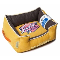 TOUCHDOG YELLOW LEMON/ DARK BROWN BED