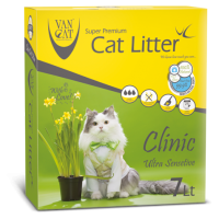 VAN CAT CLINIC ULTRA SENSITIVE CLUMPING (ANTIBACTERIAL) 6kg